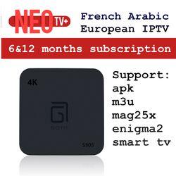 Android Smart TV Box avec 1000 + Canal Europe Arabe Français Belgique IPTV abonnement LiveTV pour MAG254/250 France belge Arabe