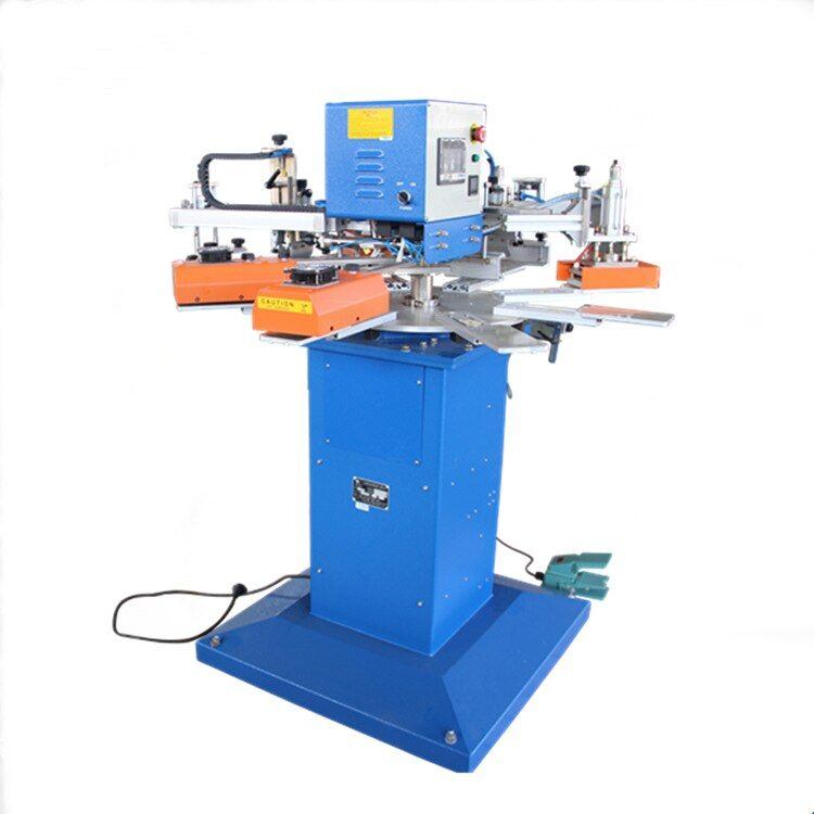 Automatische 2 farben 8 workstation 25cm * 30cm Druck Größe T-shirt siebdruck maschine