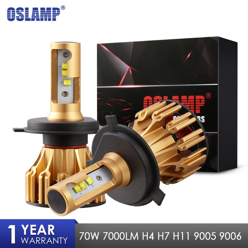 Oslamp LED Headlight Bulbs H4 H7 H11 9005 9006 SMD <font><b>Chips</b></font> 70W 7000LM 6500K Car Led Auto Headlamp Headlights Fog Light 12v 24v