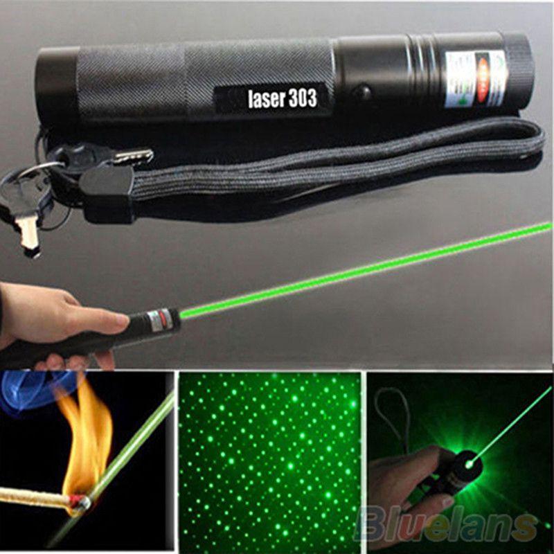 Cabeza estrellada G303 puntero láser verde foco ajustable 532nm aerometal Lazer haz puntero láser pluma conjunto