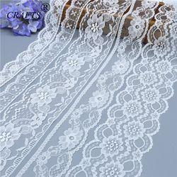 5-10 ярдов абсолютно новое красивое белое кружево, DIY ремесла/свадьба/одежда/кружевная лента для заворачивания подарка (5 или 10 ярдов/рулон)
