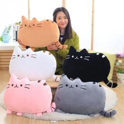 Новое поступление 6 цветов мягкая плюшевая кукла животных аниме игрушка милый кот подушка для девочки детская Милая Подушка brinquedos 40*30 см