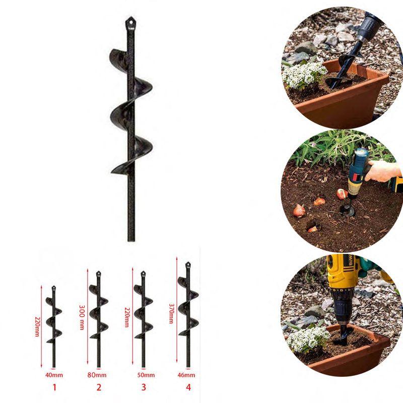 Nouveau foret à spirale de tarière de jardin Roto fleur planteur ampoule arbre de forage tarière cour jardinage literie plantation trou outil de pelle