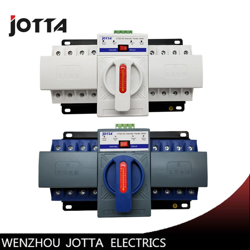 JOTTA 4P 63A 380V ATS MCB type Dual Power Automatic Transfer Switch Change Over Switch