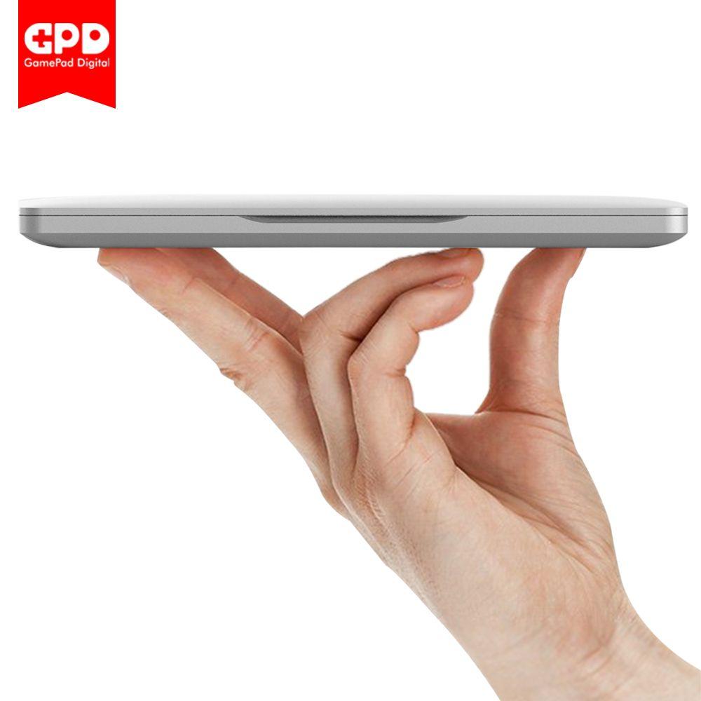 Новый оригинальный gpd карман 7 дюймов мини-ноутбук UMPC Оконные рамы 10 Системы Алюминий В виде ракушки Процессор x7-z8750 8 ГБ/128 ГБ (серебро)