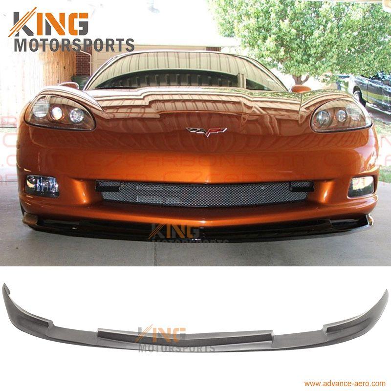 FIT 05 06 07 08 09 10 11 12 13 Chevy Corvette C6 Base Front Bumper Lip Splitter Spoiler PU