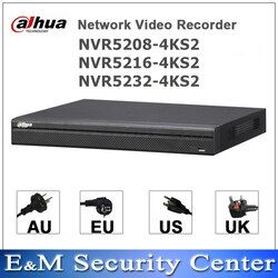 Original dahua English version 4K NVR NVR5208-4KS2 NVR5216-4KS2 NVR5232-4KS2 8/16/32 Channel Network Video Recorder H265 H264