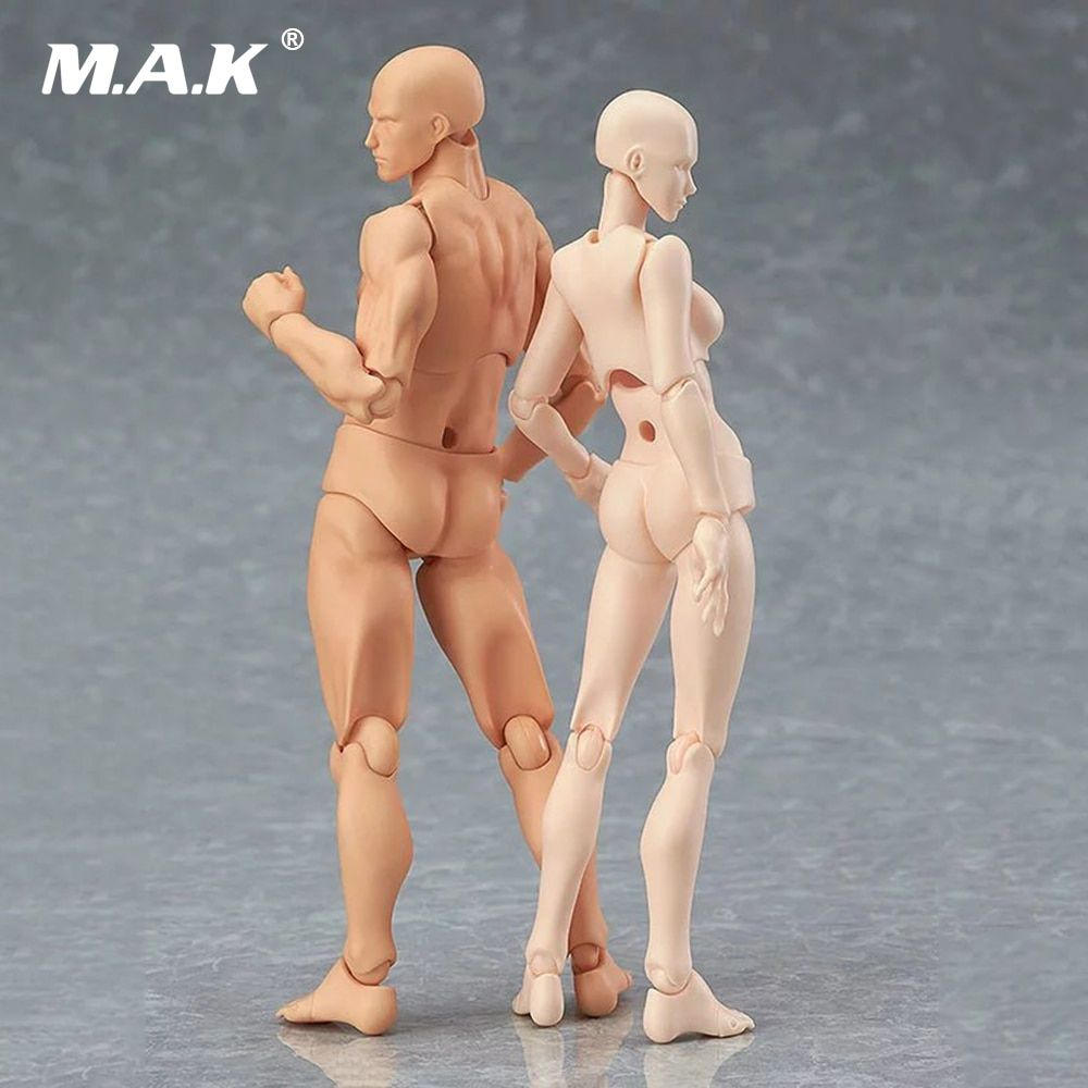 14 cm 2.0 Youth Edition CHAN / Kun He She PVC Action Figure Skin Color Nude Male Female Joint Figure Collections Gift
