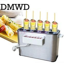 Dmwd 110 V/Komersial 220V Dipanggang Telur Pembuat Sosis Hot Dog Baking Mesin Omelet Sarapan Telur Roll Omelette master Uni Eropa US Plug