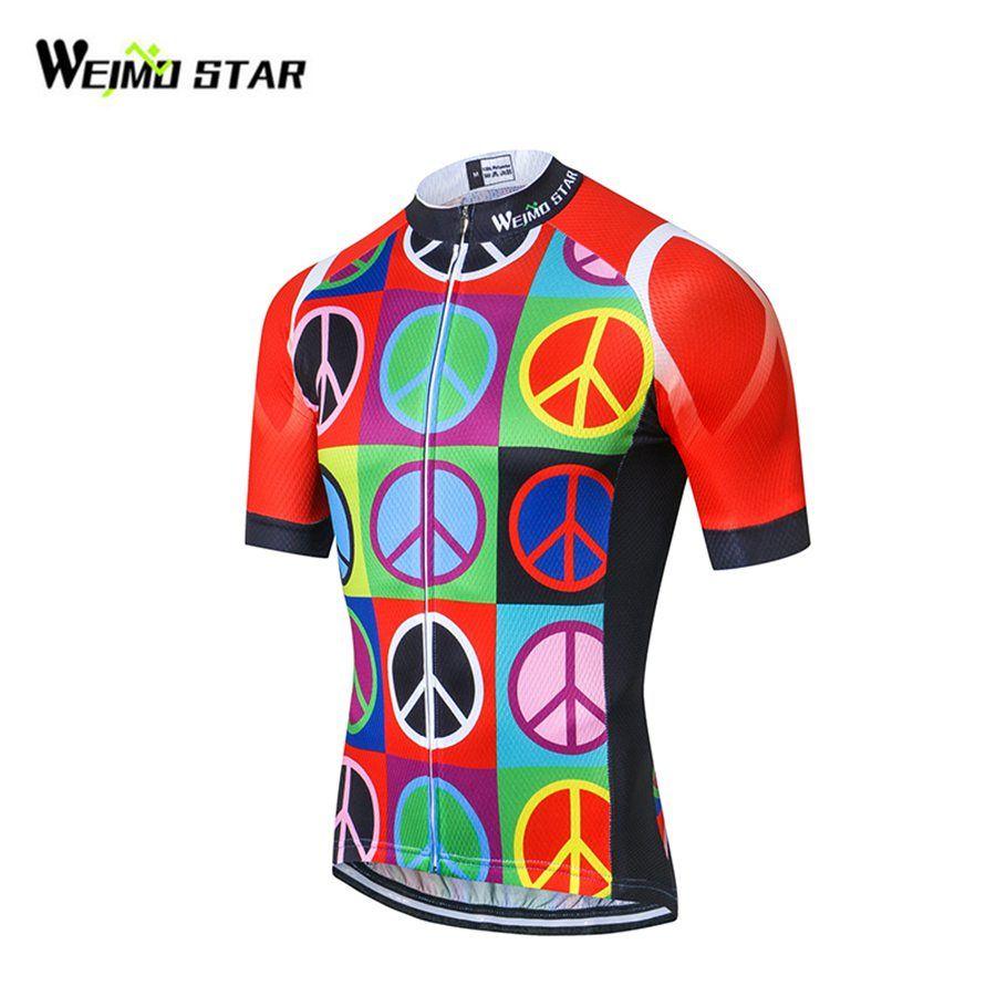 Weimostar bike Team hombres Racing Ciclismo Jersey Tops bicicleta manga corta Bicicletas ropa MTB Jersey ropa ciclismo