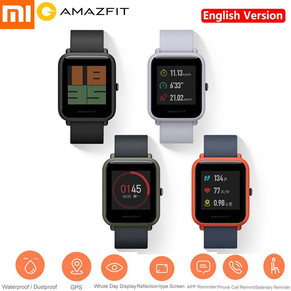 Xiaomi Huami AMAZFIT 2.5D Gorilla Screen Smartwatch IP68 Waterproof Heart Rate Sleep Monitor GPS Youth Smart Watch Phone English