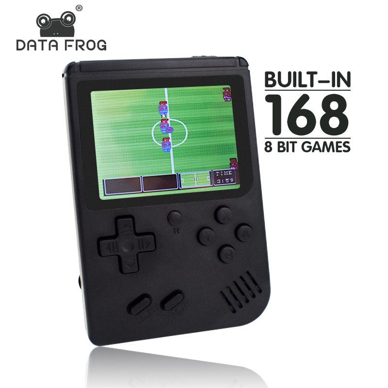 Data Frog Retro mini game console built in 168 retro 8 bit games AV out Portable Handheld Game best gift for kids