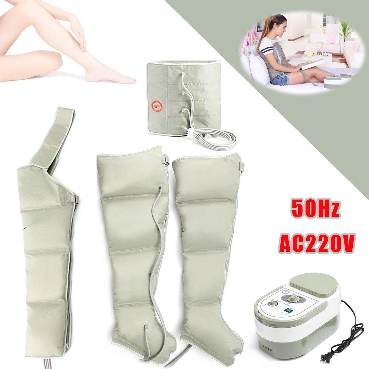 EMS Elektrische Luft Kreis Compression Massager Durchblutung Druck Massage Bein arm Manschette ältere pneumatische luftdruck welle