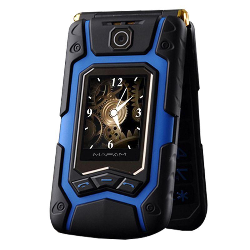 MAFAM Terre Retourner Téléphone Rover X9 Double Double Écran Antichoc Double SIM Longue Attente FM Mobile Téléphone pour Vieux Personnes Troisième P008