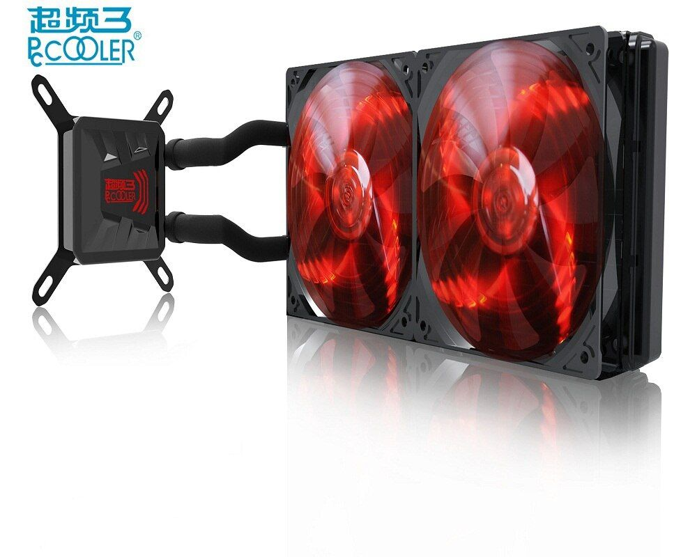 PcCooler Freeze 120 240 CPU Water cooling Dream LED 120mm or Double 120mm quite PWM fan All-in-one Liquid CPU cooler