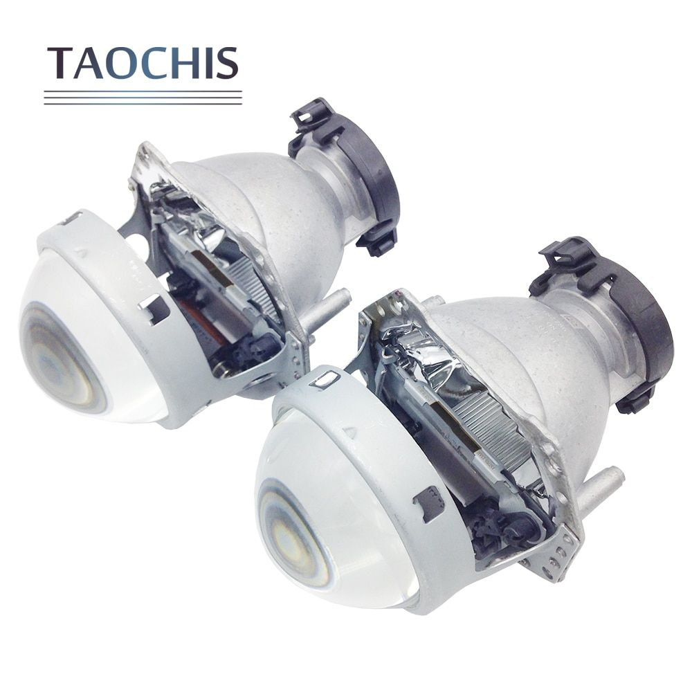 TAOCHIS 2pcs Auto Car Headlight 3.0 inch Bi-xenon Hella 3R G5 5 Projector <font><b>lens</b></font> Car styling Retrofit head light Modify D2s