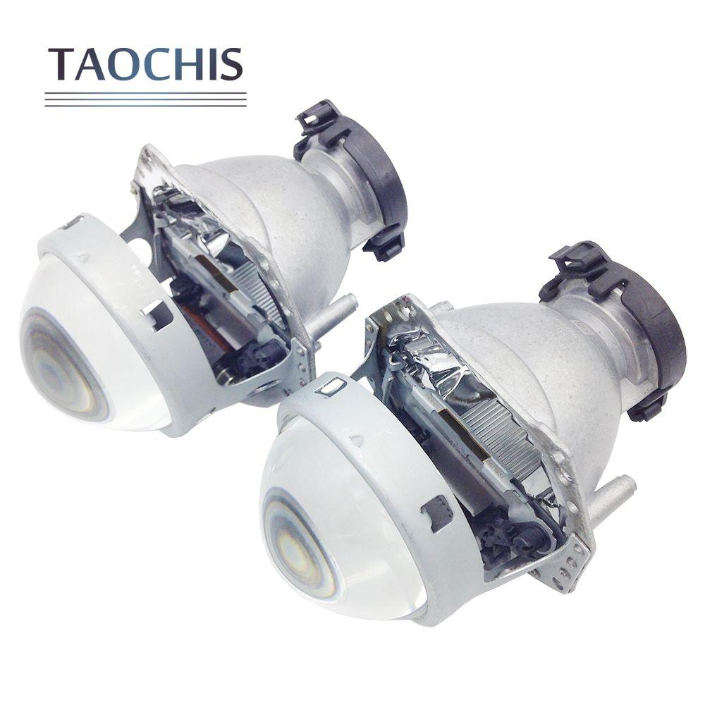 TAOCHIS 2pcs Auto Car <font><b>Headlight</b></font> 3.0 inch Bi-xenon Hella 3R G5 5 Projector lens Car styling Retrofit head light Modify D2s