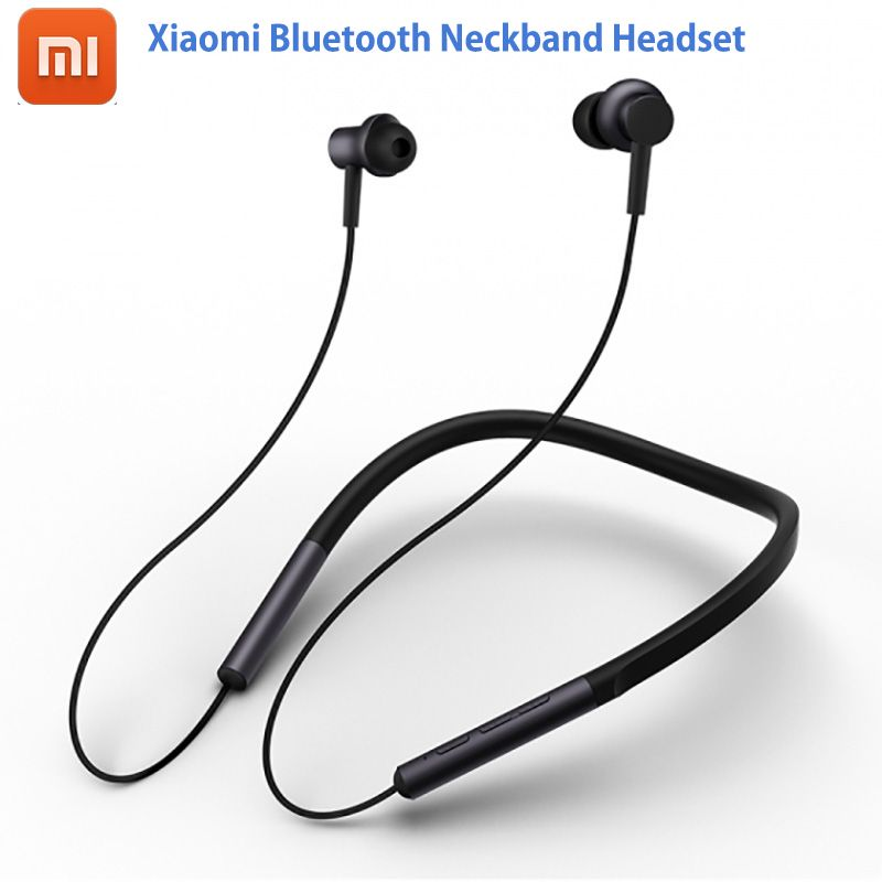 2018 Newest Xiaomi Bluetooth Neckband Headset Hybrid Dual Driver apt-X Support AAC Codec Skin <font><b>Care</b></font> Light Sports Leisure