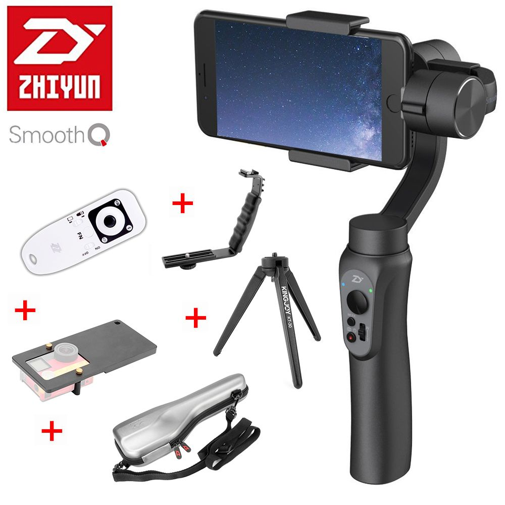 Zhiyun Smooth Q 3-Axis Handheld Smartphone Gimbal Stabilizer Smooth-Q VS Zhiyun Smooth 4 Model for iPhone X 8 7 Samsung S9 S8 S7