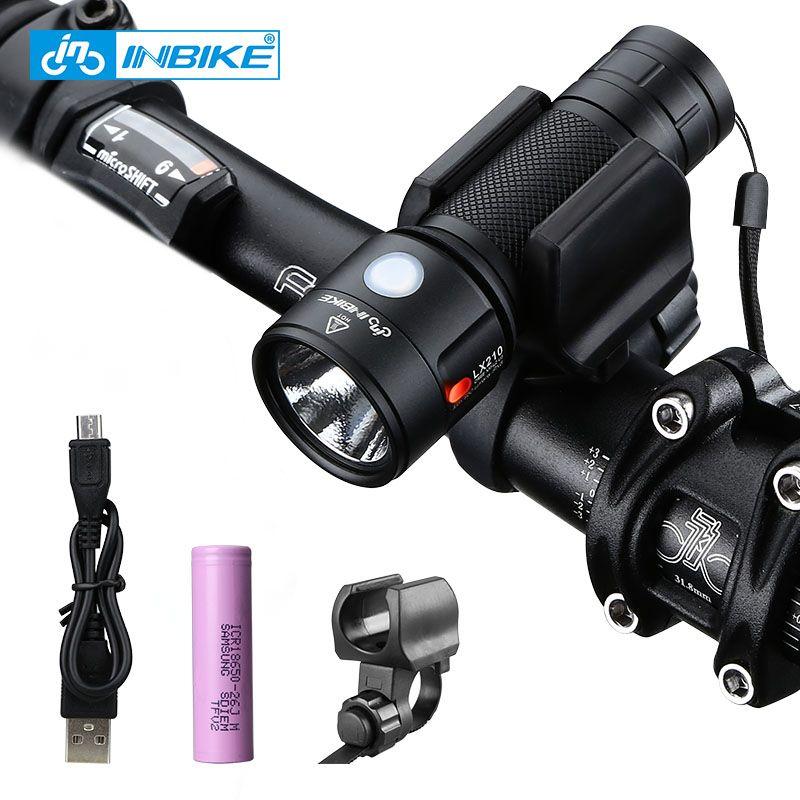 INBIKE vélo lumière vélo lampe de poche LED vélo avant lumière cyclisme 950 Lumens étanche USB Rechargeable phare vélo lampe