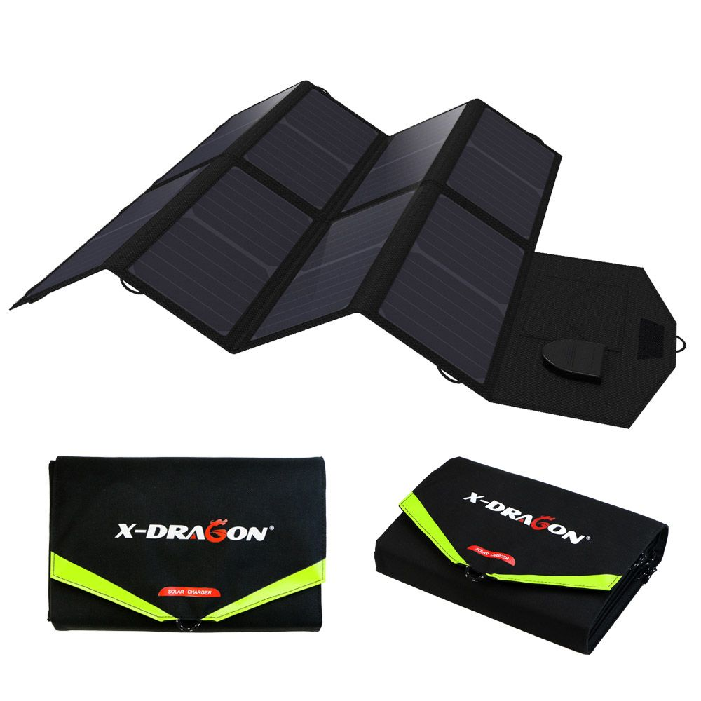 Phone Charger Laptop Charger 5V USB Output Portable Foldable Power Bank Solar Charger for Smartphone