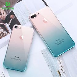 FLOVEME Case For iPhone 7 8 Plus iPhone XR X XS MAX Ultra Thin Cases For 6 6S Clear TPU Phone Cases For iPhone 5S 5 SE Fundas