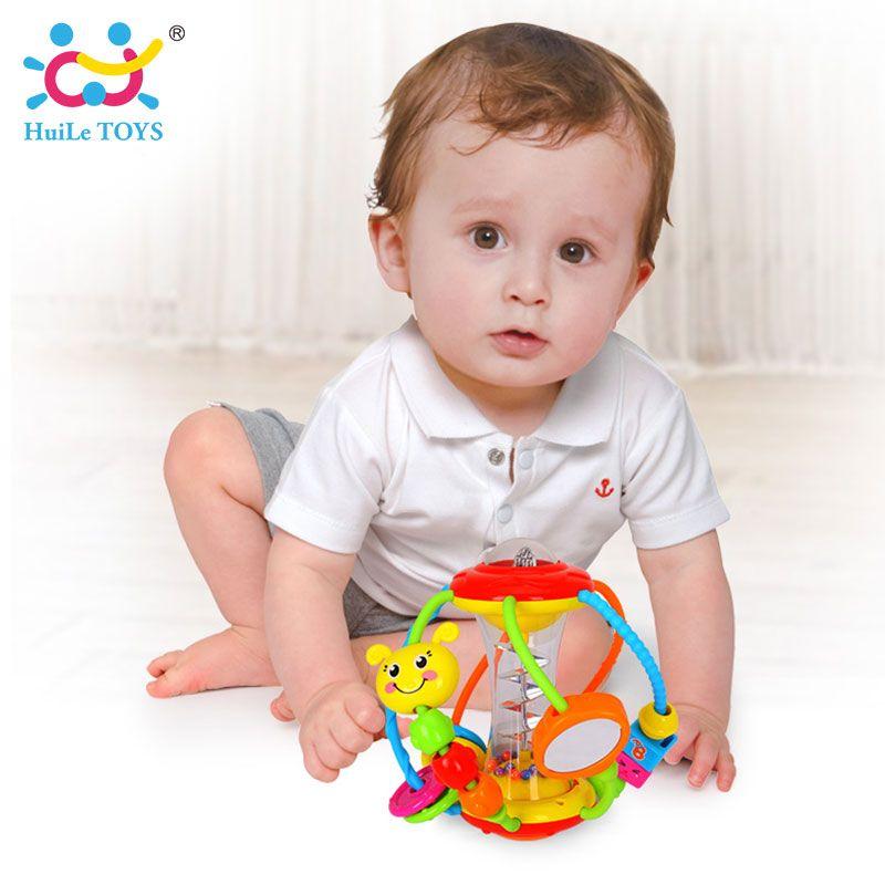 Huile игрушки Игрушки для малышей мяч 929 Детские Погремушки Развивающие Игрушки для младенцев схватив мяч головоломки Многофункциональный ко...