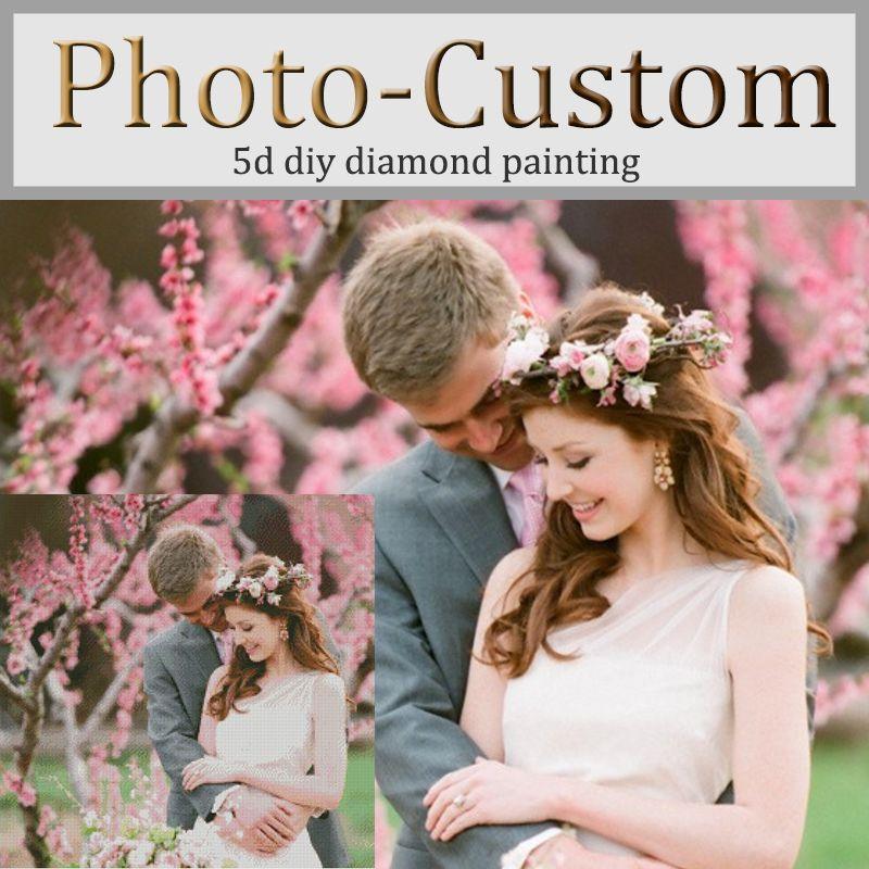 Photo custom!Private custom!DIY Diamond embroidery 5D diamond Painting Cross Stitch 3D square Rhinestone mosaic decoration gift