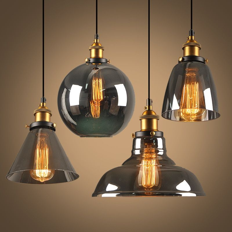 Modern LED E27 Pendant Lights Glass Lamp Luminaire Vintage loft Pendant Lamp Glass Lampshade Hang lamp Light For Bar Restaurant