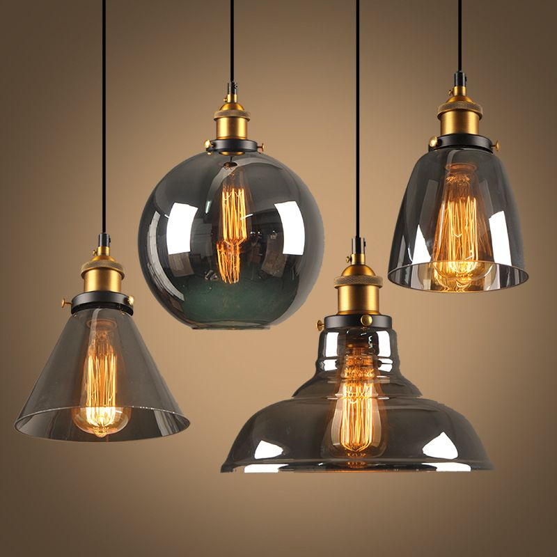 Modern LED E27 Pendant Lights Glass Lamp Luminaire Vintage loft Pendant Lamp Glass Lampshade Hang lamp Light For Bar Restaurant