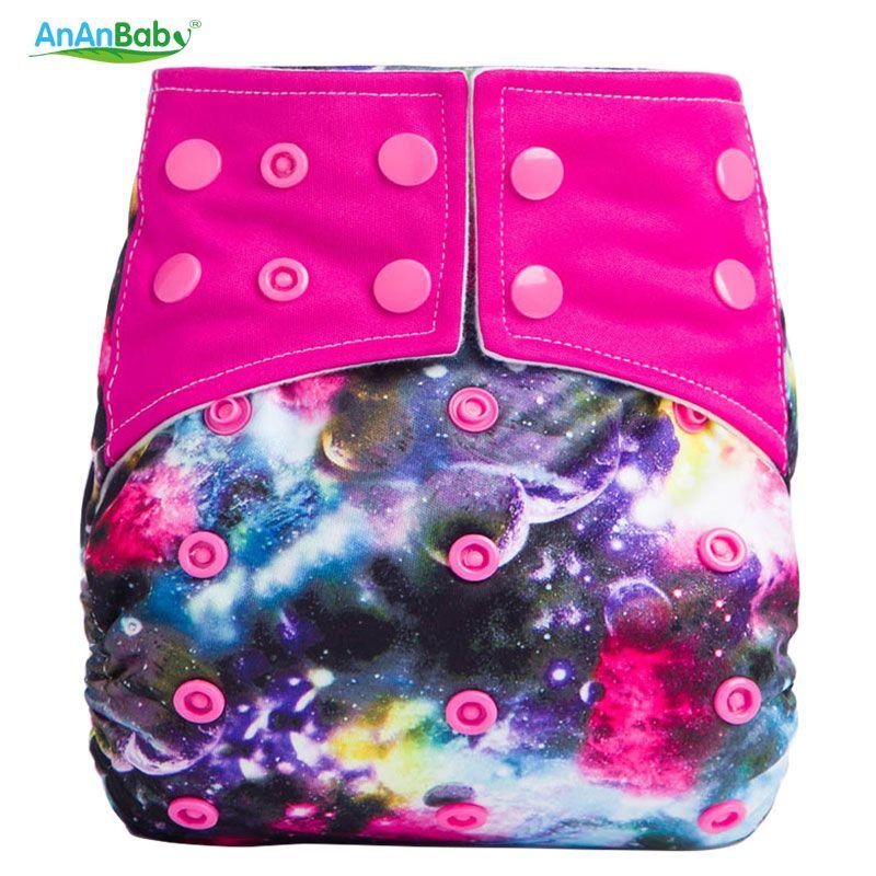 Nuevo patrón lavable cubierta del pañal del paño reutilizable AIO del paño del bebé pañales tamaño ajustable microfibra cosido Pañales de paño para el bebé