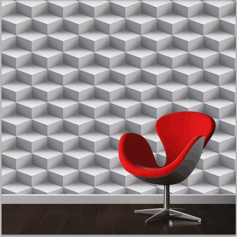 Modern 3D Wallpapers Personalized Lattice 3D Wall Murals Vinyl Wallpaper Roll PVC Waterproof Background Wall Paper for Walls