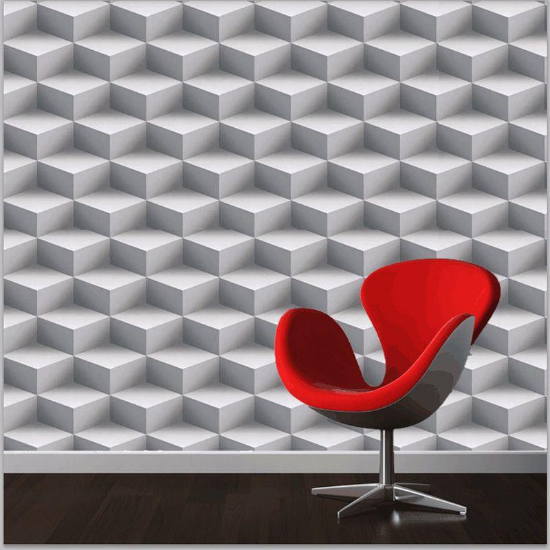 Moderne 3D Tapeten Personalisierte Gitter 3D Wandbilder Vinyl Tapete Rolle PVC Wasserdicht Hintergrund Wand Papier für Wände