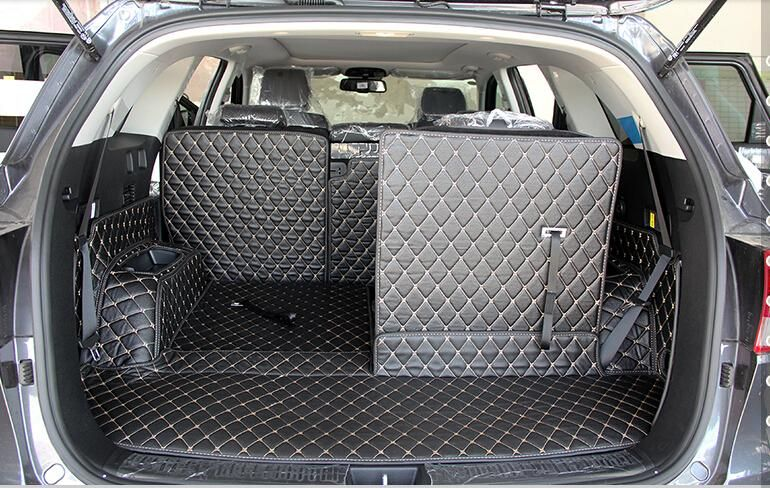 CHOWTOTO Custom Special Car Trunk Mats For KIA Sorento 7seats Durable Waterproof Luggage Mats For Sorento 7 Seats