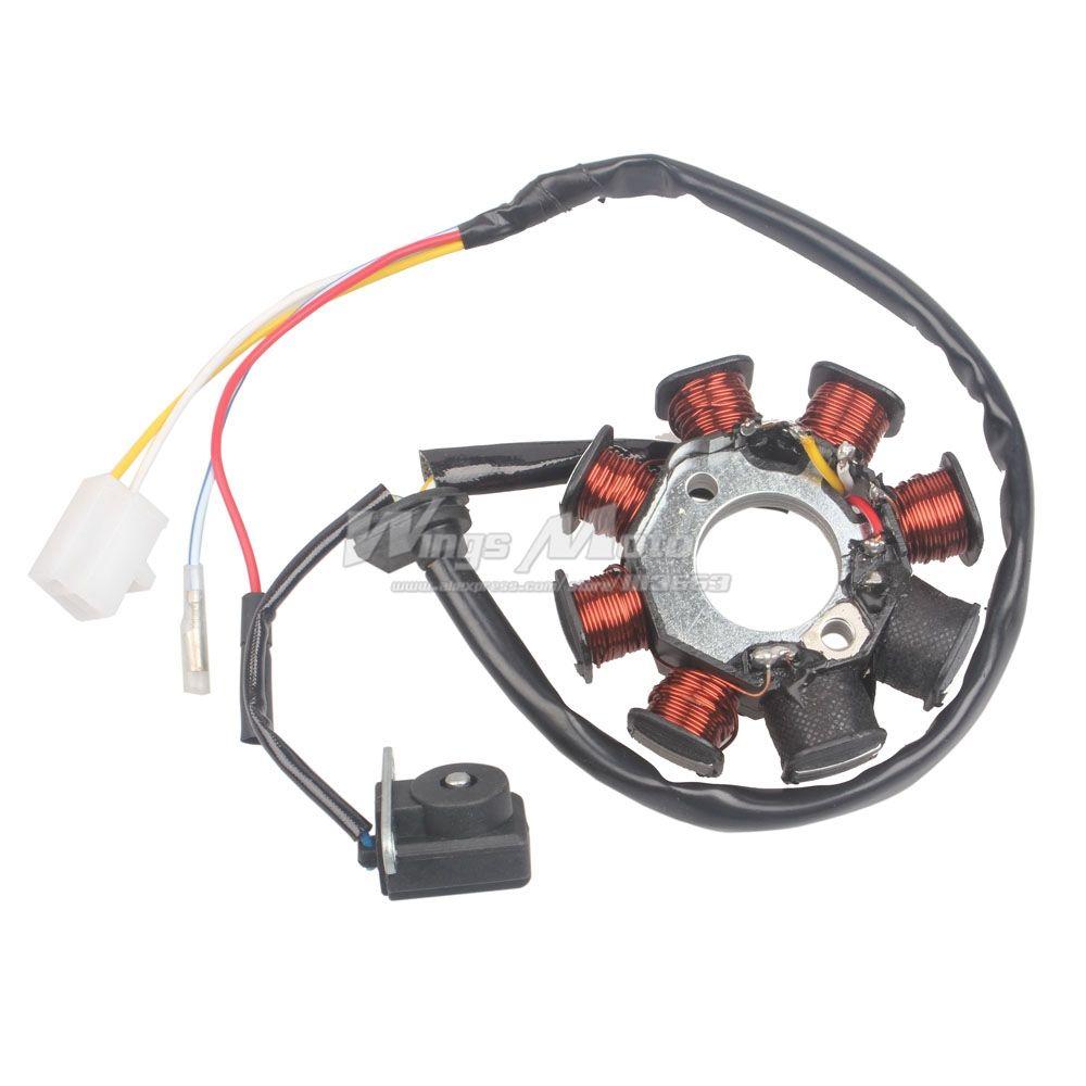 Estator de encendido magneto 8 bobina 4 cables GY6 50 110 150cc scooter ciclomotor ATV Taotao JCL