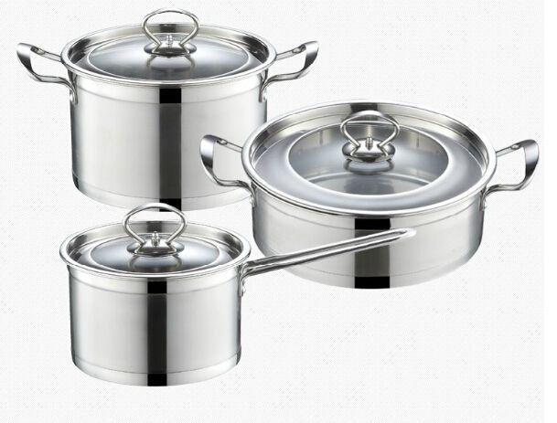 cookware set casserole pans and pots 3pcs cooking pot set stainless steel milk pot soup pot