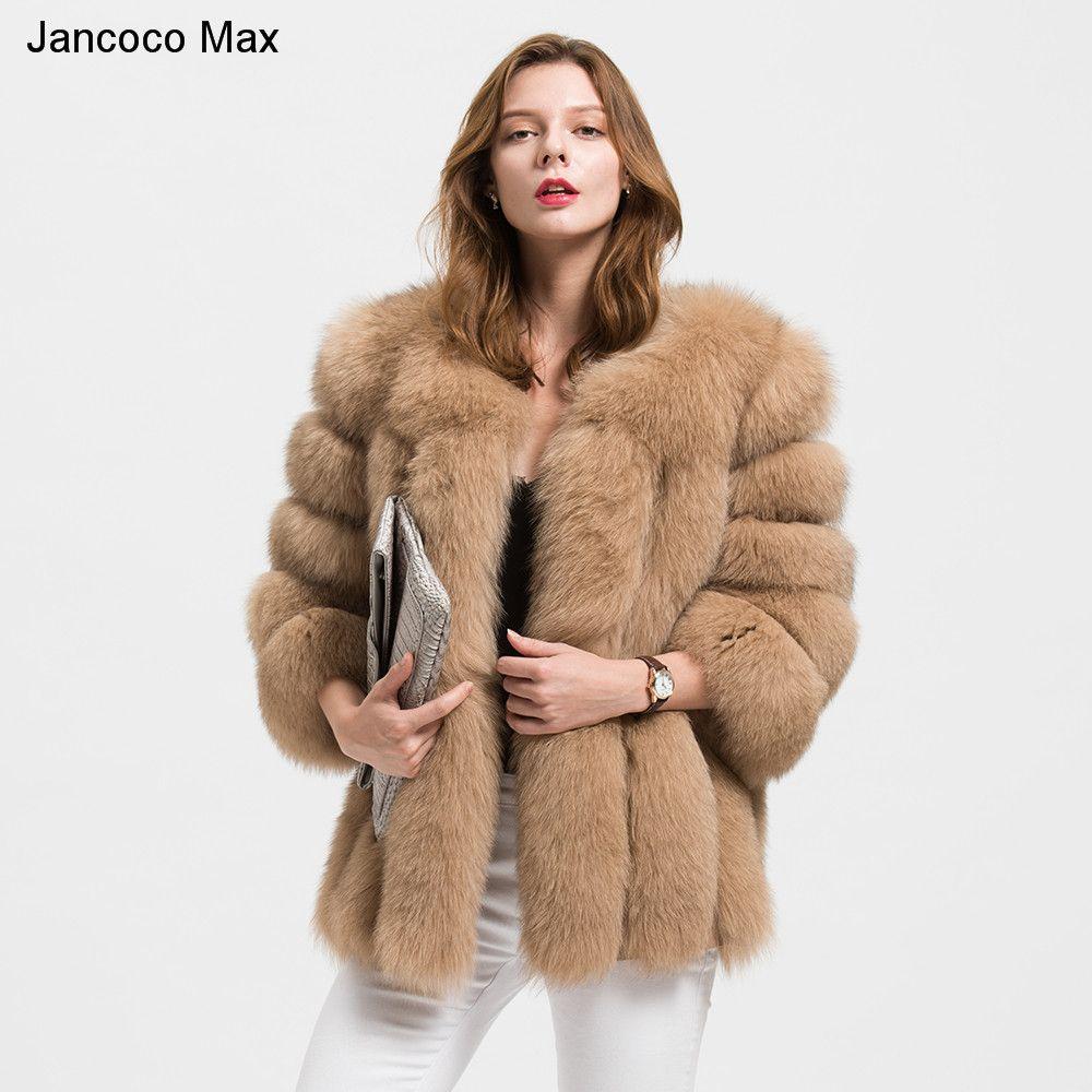 Jancoco Max Großhandel/Einzelhandel 10 Farben Frauen Echt Fox Pelz Jacke Oder Dame Winter Mode Pelz Mantel S1589