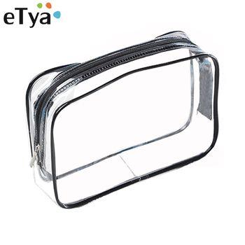 eTya Environmental Protection PVC Transparent Cosmetic Bag Women Travel Waterproof Wash Toiletry Bags Makeup Organizer Case