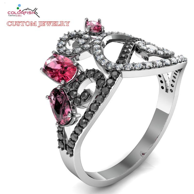 COLORFISH Design Your Own Jewelry Custom Sole Wedding Engagement Ring To Win Her Heart