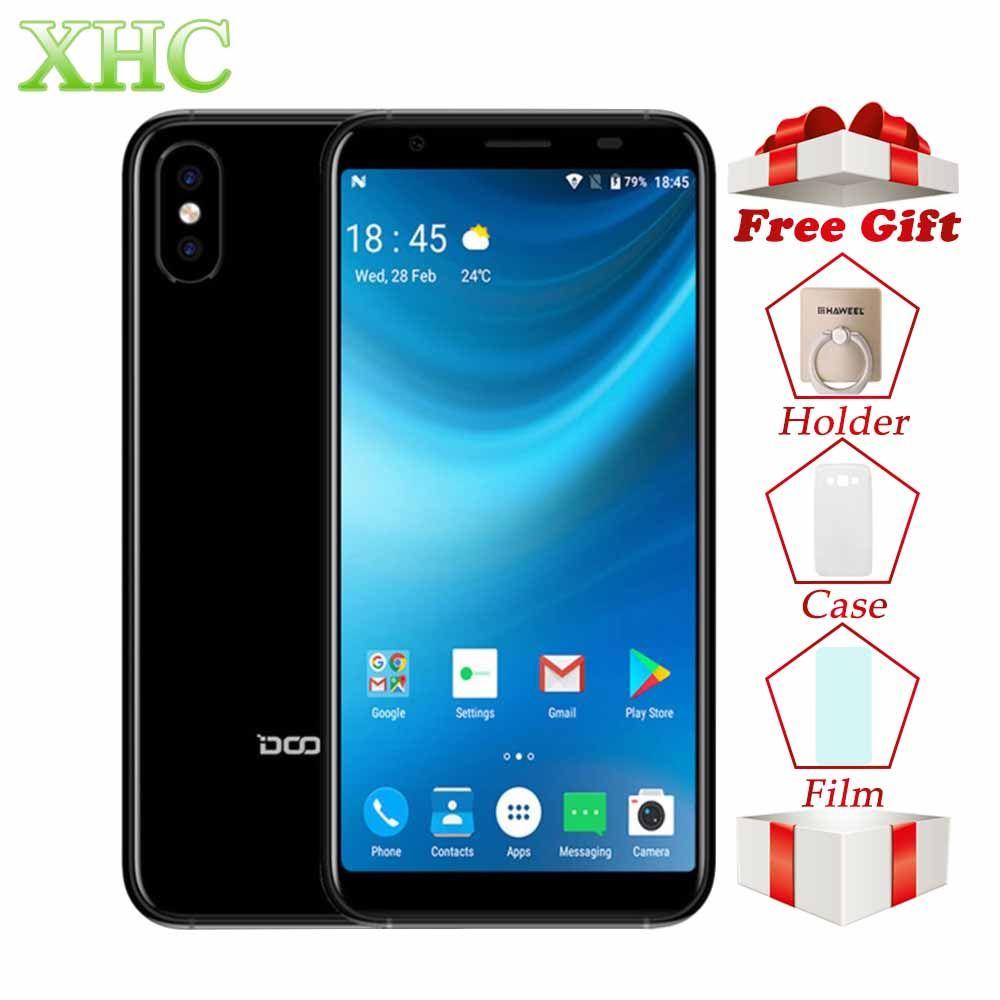 WCDMA 3G DOOGEE X55 Android 7.1 5.5inch Smartphones MTK6580 Quad Core 1GB RAM 16GB ROM 8.0MP+8.0MP 2800mAh Dual SIM Mobile Phone