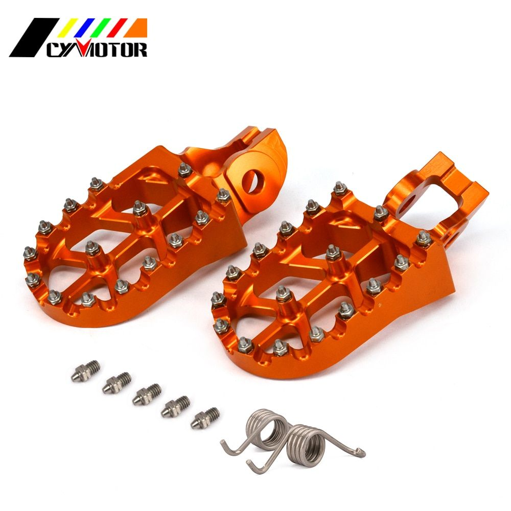 CNC Motorbike Foot Pegs Motorcycle Footpeg For KTM SX SXF XC XCF XCF XCW 125 150 200 250 300 350 400 450 500 SX-F EXC-F 2017
