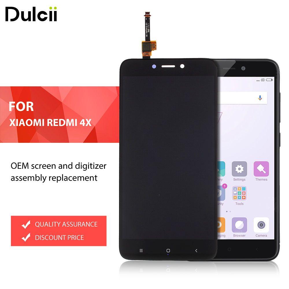 Dulcii für Xiomi Redmi 4X OEM Lcd-bildschirm und Digitizer Montage Ersatzteil für Xiaomi Redmi 4X Lcd-bildschirm Schwarz Weiß Gold
