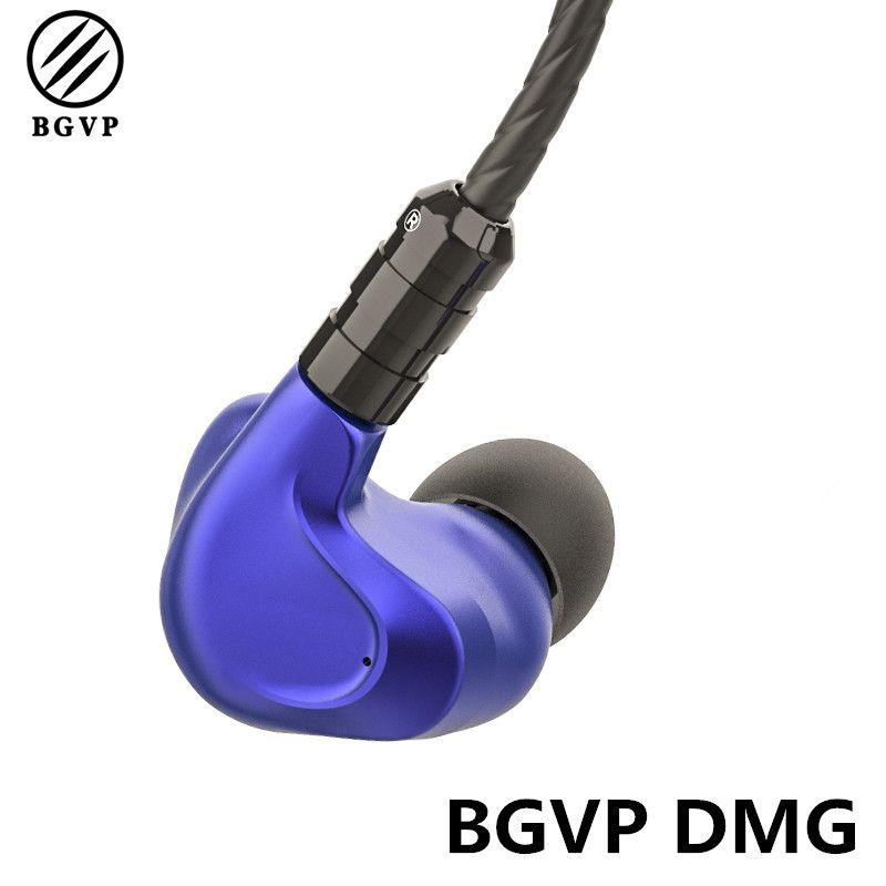BGVP DMG 2DD+4BA Hybrid Earphone In Ear HiFi 5N OCC Detachable MMCX Cable DJ Monitor CNC Metal Earphone with 3 Tune Nozzles