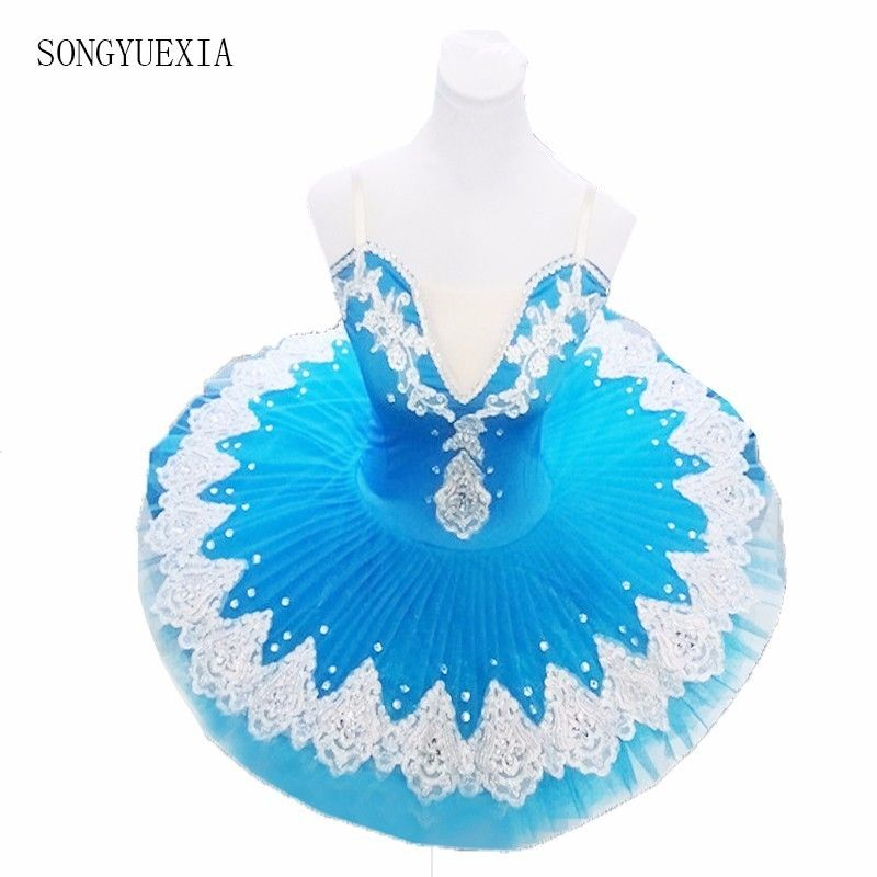 2017 Songyuexia Professional Puff Skirt Ballet Dance Costume for Children and Adults <font><b>Blue</b></font> tutu skirt 10colors