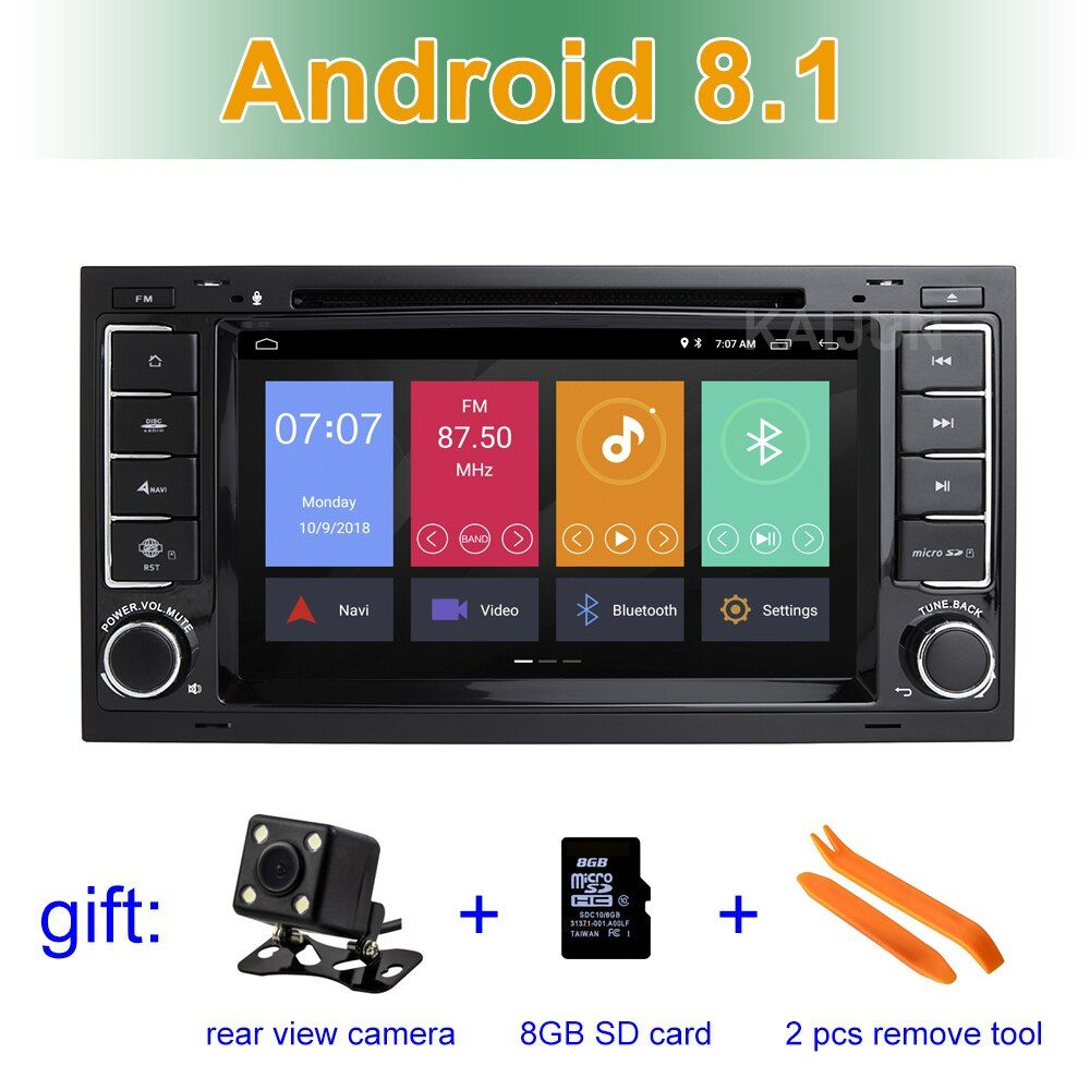 Android 8.1 Car DVD Player GPS for VW T5 Transporter Multivan Touareg with wifi BT Stereo Radio