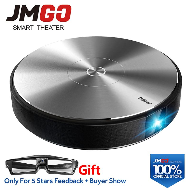 JMGO N7L Full HD Projector, 1920*1080P,2G+16G,700 ANSI Lumens Smart Beamer, WIFI, Bluetooth Speaker.HDMI, USB,Support 4K LED TV