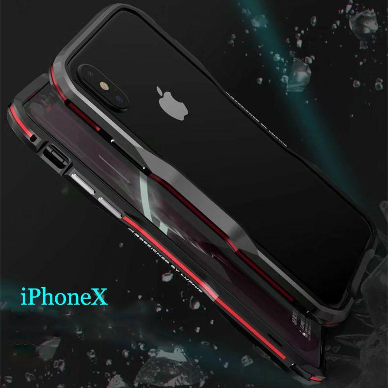 Luphie Bicolor Aluminium métal téléphone Pare-chocs Cas pour iphoneX téléphone Cadre Cas pour iphone X 5.8 pouces cas De Couverture