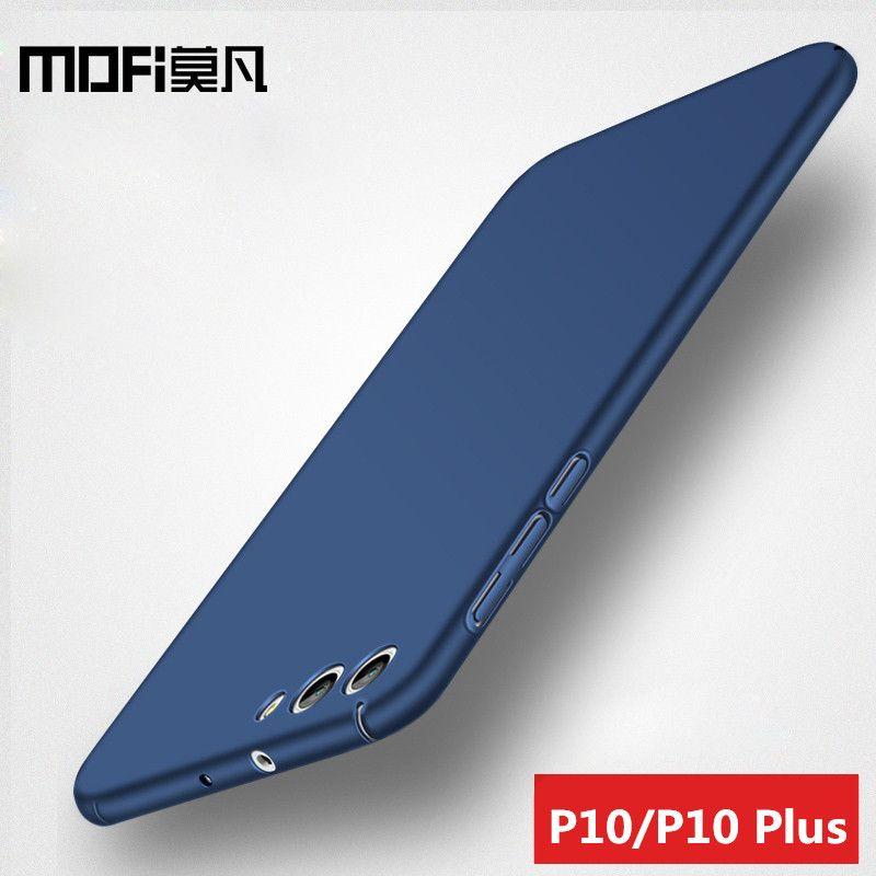Huawei p10 cas couverture huawei p10 plus couverture arrière dur protéger pleine couverture de luxe noir capas MOFi huawei p10 plus cas