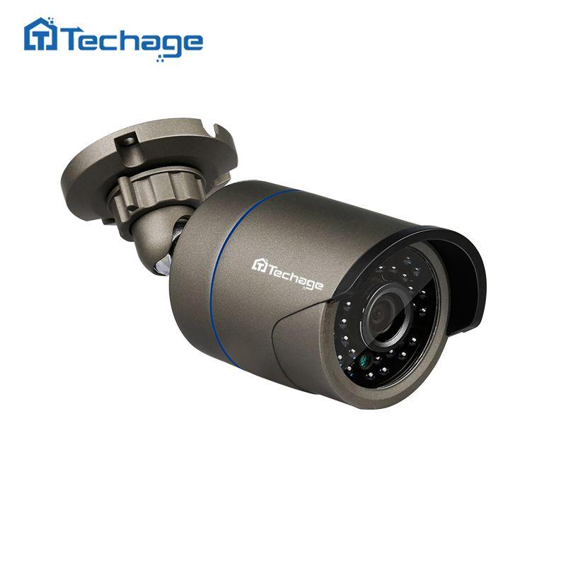 Techage FULL HD 720P 960P 1080P Metal CCTV IP Camera Outdoor IP66 Waterproof P2P <font><b>Onvif</b></font> Email Alert Surveillance Security Camera