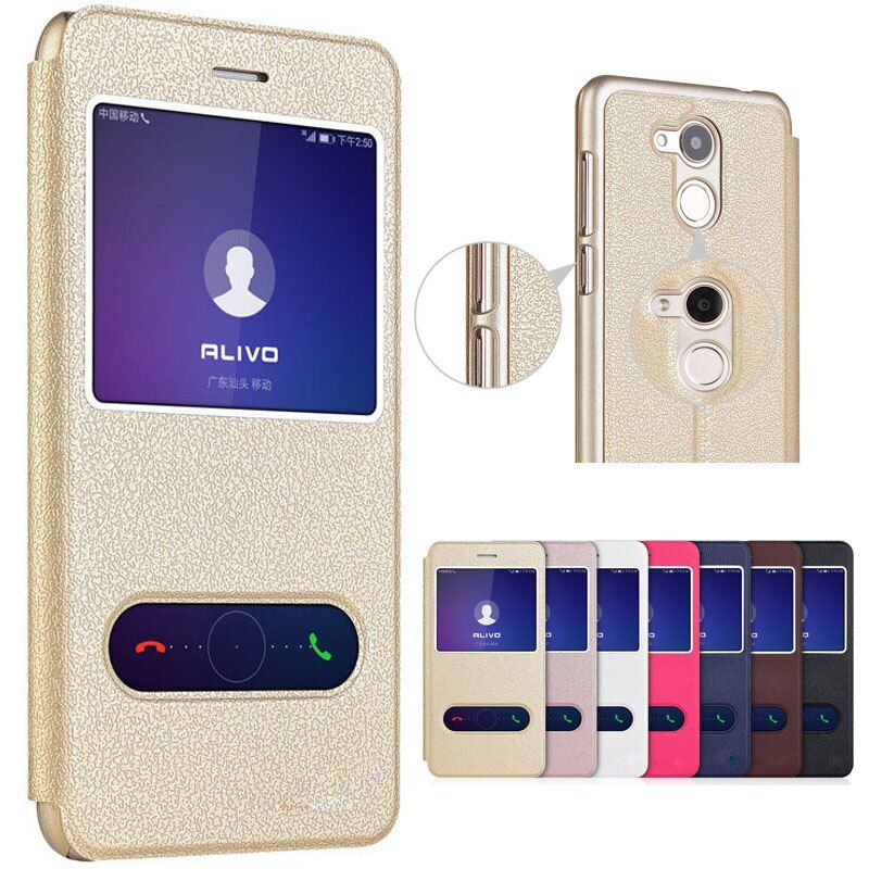 For Huawei Honor 6C Pro Case 5.2 Luxury Answer View Window Stand Cover For Huawei Honor 6C Pro Cover Flip Leather Phone Cases